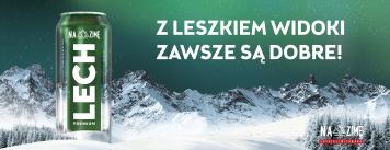 Leszek moves mountains to the city! Lech Premium's winter campaign launch