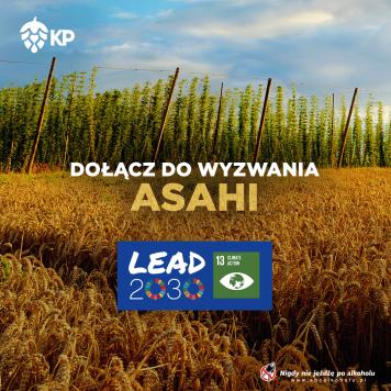 Asahi wspiera 13. Cel Zrównoważonego Rozwoju ONZ dołączając do inicjatywy Lead 2030!