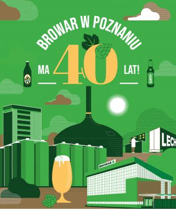 Czterdzieści lat minęło!  Lech Browary Wielkopolski z okrągłym jubileuszem swojej działalności