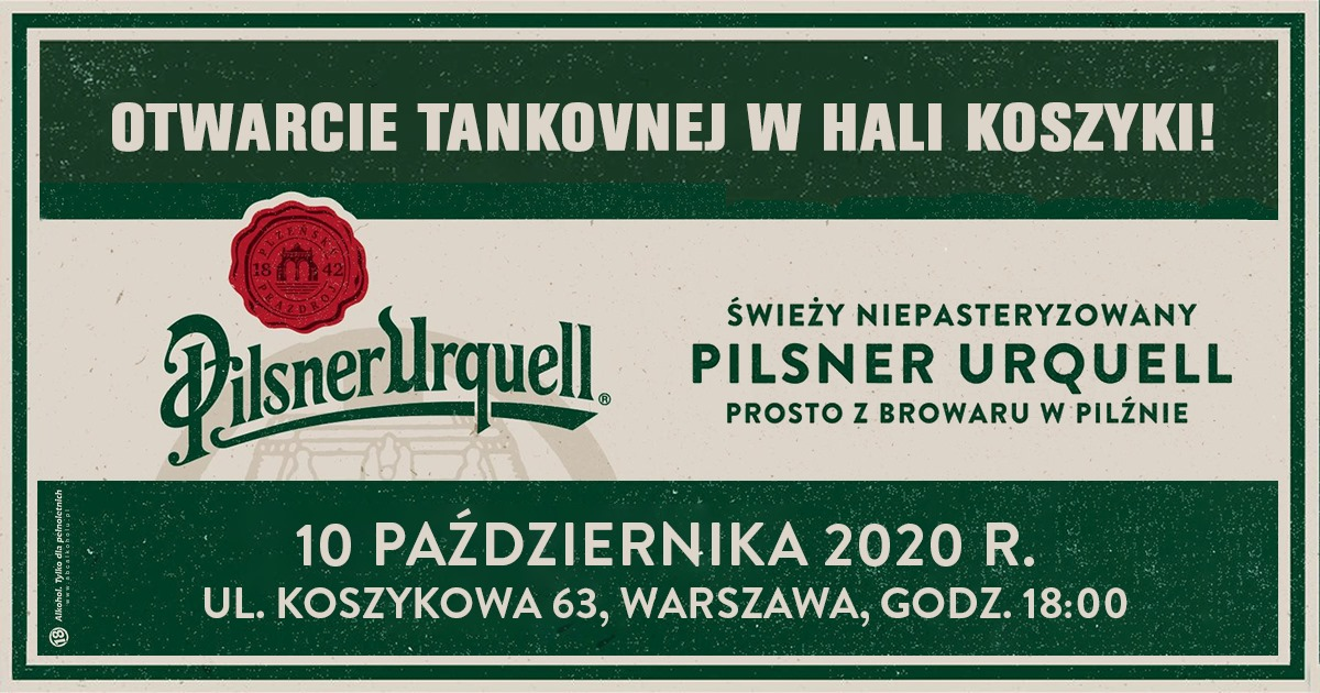 Bar Koszyki becomes another Pilsner Urquell Tankovna! Official inauguration of Pilsner's second temple in Warsaw
